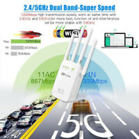 1200Mbps Wireless Dual Band 2.4/5G Range Extender WiFi Repeater Router 4 Antenna
