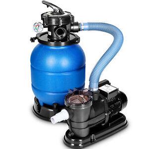 Sandfilteranlage mit Pumpe Filteranlage Sandfilter Filterkessel Pool Filterpumpe