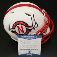 Scott Frost Signed Nebraska Cornhuskers Mini Football Helmet w/Beckett COA #2