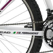 2X Adesivo in vinile nome personalizzato bandiera Italia per Mountain Bike m21