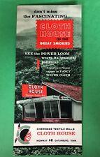 Jz357 Cherokee Textile Mills Cloth House Gatlinburg Tennessee Brochure