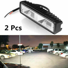 2x 6 Inch 48W 16LED Car Work Light Flood Beam Bar SUV Off Road Driving Fog Lamp