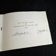 Rare 1937 King George VI Queen Elizabeth II Queen Mother Signed Christmas Card