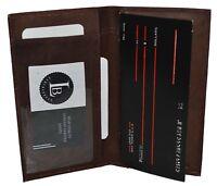 Genuine Leather PLAIN Checkbook Cover Dark Brown NEW!!!