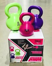 Everlast Womens Ergo Handled 16kg Kettlebell Set Fitness Weights