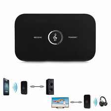 Car Bluetooth 4.1 Transmitter Receiver Portable 2-in-1 Wireless Audio Adapter US