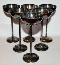 ANTIQUE APLACCA SILVER D.R.G.M. 6 LIQUOR GOBLETS 1900-s GERMANY