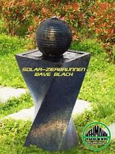 Solarbrunnen Wave black Memory Solarspringbrunnen Garten Brunnen Solar-Brunnen