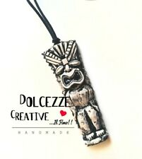 collana Tiki - divinità maori - scrubs dio - polinesia - bahamas handmade - poly