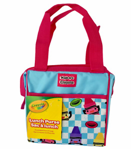 Insulated Lunch Box Purse Bag Igloo Crayola Crayons Blue Checked NEW *CHOOSE*