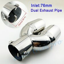 "3"" 76mm Diameter Universal Car Tail Pipe Exhaust Muffler Rear Tailpipe Tip Trim"