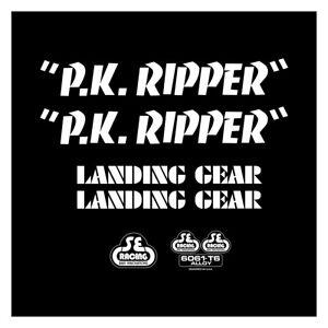 SE Racing PK RIPPER frame & fork decal kit WHITE BMX  BIKE LIFE