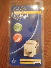 Leviton Almond Quickport Multi-Use CAT 5e Jack 8-position, 8-conductor 5G108-A