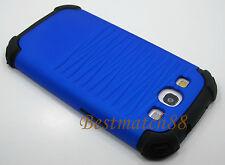 for samsung galaxy i9300 s3 SIII case blue black hybrid rugged dual layer
