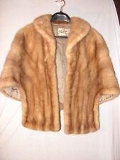 Vintage Mink Fur Stole Wrap Shawl Jacket by Douglas Furs Charlotte, NC