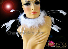 Diva Showgirl's Couture white burlesque marabou feather collar style necklace