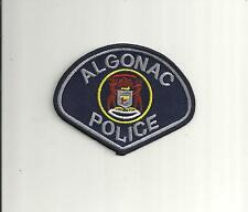 ALGONAC MICHIGAN  POLICE PATCH