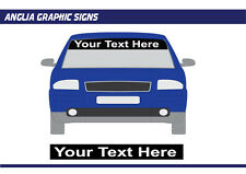 Personalised Car van Sun Strip vinyl visor decal Graphic various colours