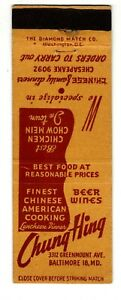 CHUNG HING matchbook matchcover - BALTIMORE, MARYLAND
