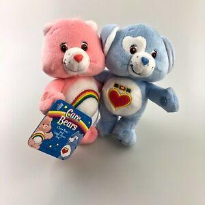 "Care Bears Cheer Bear Loyal Heart Dog NWT Plush 9"" Hugging Cuddle Pairs Toy"