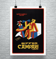 Bitter Campari 1928 Vintage Liquor Advertising Poster Canvas Giclee 24x32 in.
