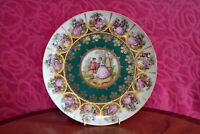 Vintage Royal Vienna Love Story Gold Gilt Porcelain Fragonard Courting Plate
