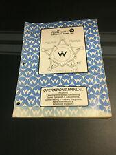 Police Force Williams Pinball Manual