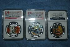 3 coin set of $20 2013-14 Canada coins, NGC, PF69/PF70, Early/First Releases
