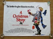 A CHRISTMAS STORY ORIGINAL 1983  UK CINEMA QUAD POSTER RARE ROLLED Bob Clark