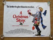 A CHRISTMAS STORY ORIGINAL 1983  UK CINEMA QUAD POSTER RARE ROLLED Bob Clark