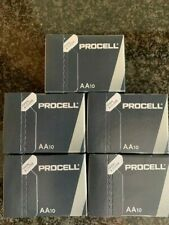 50 x DURACELL AA BATTERIES ALAKALINE INDUSTRIAL PROCELL MN1500 BULK PACK EXP2026
