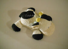 """Prestige Belly Flops Coco Cow plush stuffed terry cloth beanie 7"""" with bow"""