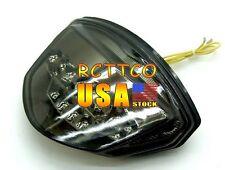 Smoke US Ship Chrome LED Tail Light Turn Signal For Suzuki GSXR1000 K7 2007-2008