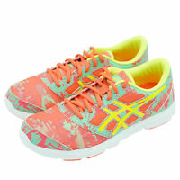 Asics Kid's 33-DFA 2 GS Running Athletic Shoes Pink Yellow Size 7