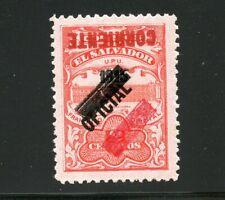 El Salvador 1917,Nr. 365/368, Dienstmarke Nr.179, kopfstehender Aufdruck, B0183