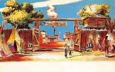 Disneyland Pre-Opening Postcard Entrance to Frontierland~127291