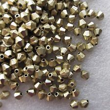 5000 x 5mm Metallic Bicone Beads In Golden Shining Colours
