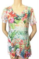 Tropical Flowers Graphic Soft light One By One Print Sublimation SVT-R372