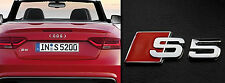 Audi car styling chrome metal S5 emblem sticker decal auto rear badge