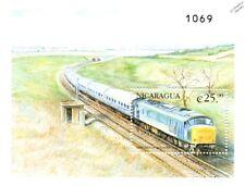 British Railways BR Type 4 Class 44 PEAK Diesel Train Stamp Sheet/2000 Nicaragua