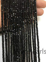 AAA 4mmx3mm Black Spinel Faceted beads,Semi Precious stone,black spinel beads