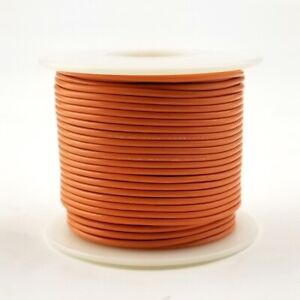 18 AWG Gauge Stranded ORANGE 300 Volt, UL1007 PVC Hook Up Wire 100ft Roll 300V