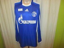"FC Schalke 04 Original Adidas Langarm Heim Trikot 2008/09 ""GAZPROM"" Gr.L TOP"