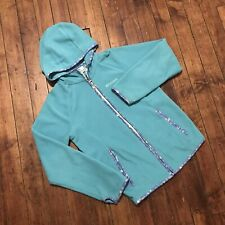 COLUMBIA sportswear Full Zip Fleece sweater jacket Aqua Girls Large