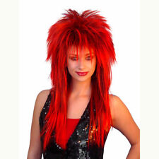 Spiky Vamp RED Deluxe Wig Mullet Styled Costume Wig