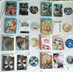 Wii U + Wii Game Lot - Zelda - Wario - Resident Evil - Tekken - Monster Hunter