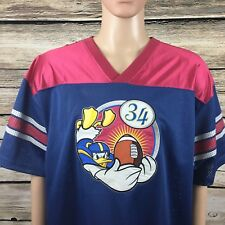 Disney Store Donald Duck Football Jersey #34 Embroidered RARE/VINTAGE -A215