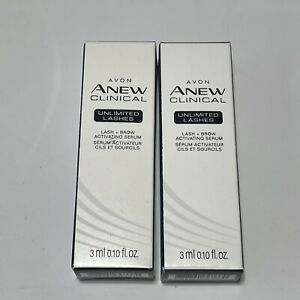 Lot of 2 Avon Anew Clinical Unlimited Lashes Lash & Brow Activating Serum - NEW