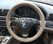 Pour BMW Série 3 E46 perforé en cuir beige volant couverture de nouvelles 1999-2005