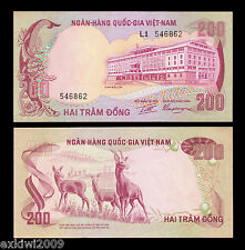South Vietnam 200 Dong 1972 P-32 aUNC About Uncirculated L1 546862 See Pics